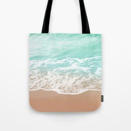Soft Emerald Beige Ocean Beauty Dream #1 #wall #decor #art #society6 Tote Bag