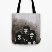 coven Tote Bags featuring Coven by slakjawdyokel
