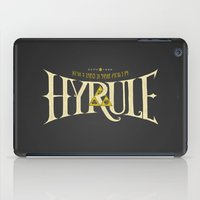 hyrule iPad Cases featuring Hyrule Nation by Jango Snow