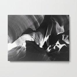 Antelope Canyon - Black and White Metal Print