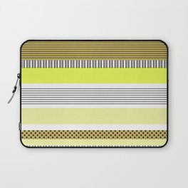 Yellow Mixed Pattern Color blocking Striped Laptop Sleeve