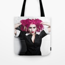 "Magenta - ""A Domestic"" Tote Bag"