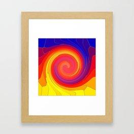 Mosaic Swirl Framed Art Print