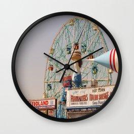 coney island brooklyn Wall Clock