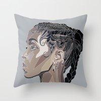 fka twigs Throw Pillows featuring FKA by Stina Löf