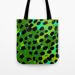 Cheetah Spots in Green and Blue Tote Bag