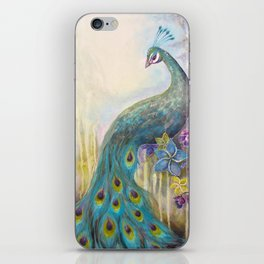 Jeweled Peacock iPhone Skin