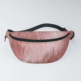 Red Pixel Abstract by Mixinmadness Fanny Pack