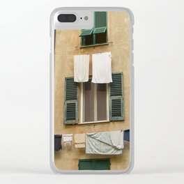 Hanging laundry Clear iPhone Case