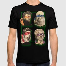 Renaissance Mutant Ninja Artists LARGE Black Mens Fitted Tee