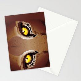 Wild Puma Eyes Stationery Cards