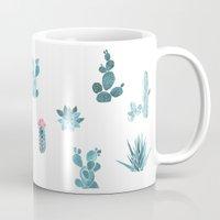 desert Mugs featuring Desert by Annet Weelink Design