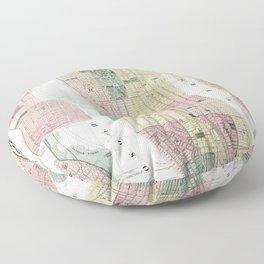 Map of New York City Floor Pillow