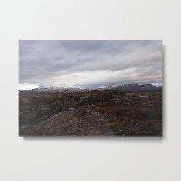 Continental drift - Thingvellir National Park Metal Print