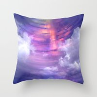 blur Throw Pillows featuring Blur by Stacey Cat