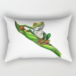 Red eyed tree frog (Agalychnis callidryas) Rectangular Pillow