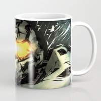 master chief Mugs featuring The Master Chief by Andrew Sebastian Kwan