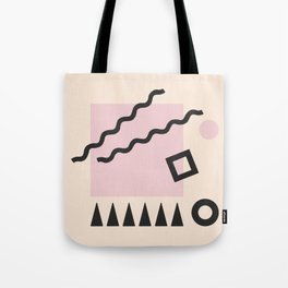 Pink Square Tote Bag