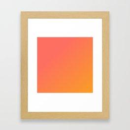 Coral Sherbet Framed Art Print