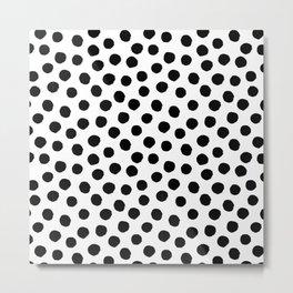 Random black dots Metal Print