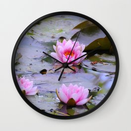 Water Lilies Wall Clock