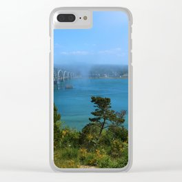 Bridge Over Calm Waters Clear iPhone Case