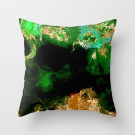 100 Starry Nebulas in Space 108 (Portrait) Throw Pillow