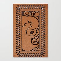 wallet Canvas Prints featuring Little Ghosty Wallet by Billy Davis