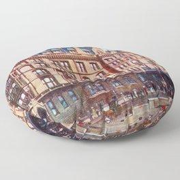 Vintage St Enoch railway station hotel Glasgow Floor Pillow