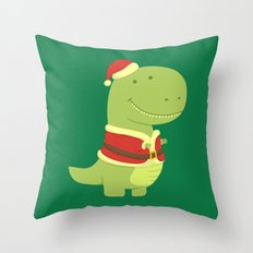 SanT-Rex Throw Pillow