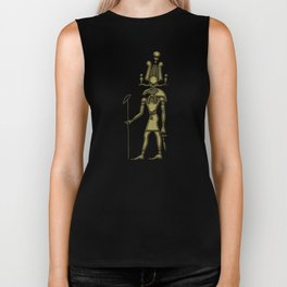 Khensu - God of ancient Egypt Biker Tank