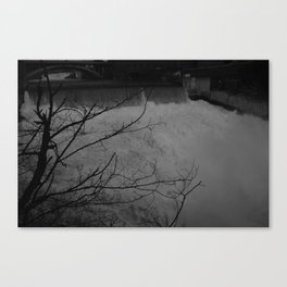 Black Zones of Shadow Canvas Print