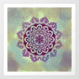 Hipnotic Mandala Design Art Print