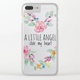 A Little Angel Stole My Heart Clear iPhone Case