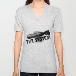 Bomb the System Unisex V-Neck