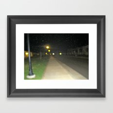 The Rain Out There Framed Art Print