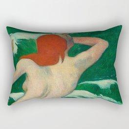 Paul Gauguin - In the Waves Rectangular Pillow
