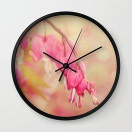Bleeding Heart Morning Wall Clock