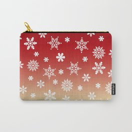 Snow Flurries-Red/Cream Ombre Carry-All Pouch