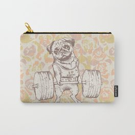Pug Lift Camo Pink Carry-All Pouch