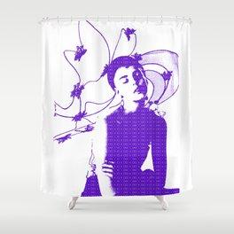 Butterfly: Agyness Deyn Fashion Model Shower Curtain