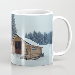 cabin in mountains Coffee Mug