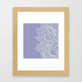Abstract Nature in Ultraviolet Framed Art Print