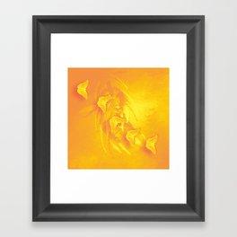 Vibrant butterflies and wattle Framed Art Print