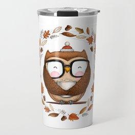 Fall Ready Owl- Illustration Travel Mug