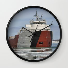 Philip R Clarke freighter Wall Clock