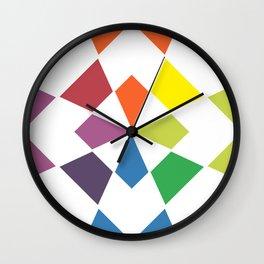 Rainbow block Wall Clock