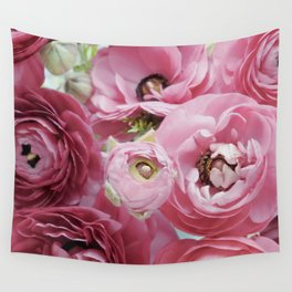 Bloom Sweetly - Rose Pink Wall Tapestry