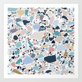 Pastel Terrazzo Art Print
