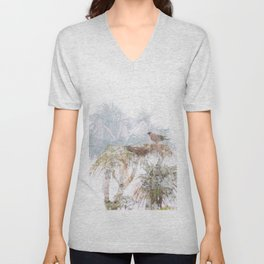 Where the sea sings to the trees - 10 Unisex V-Neck